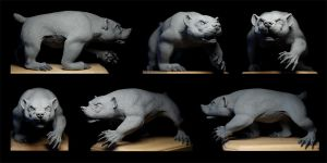 Badger Sculpture: unpainted by rgyoung
