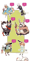TINY CREATURES ^q^-USD or Points~CLOSED THANKS by Cate-adoptables