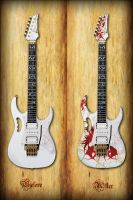 Royalized Ibanez Jem7V Concept by xblackwater