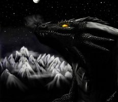 Black dragon inproved by AerinTheDragonGirl