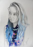 Girl with Blue hair by AdrianMoraru