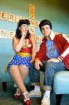 50s Rockabilly Wonder Woman and Superman by KarasCosplay