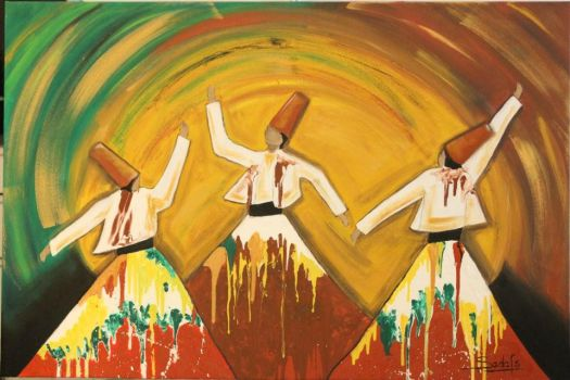 Whirling Dervishes by sadafsartgallery