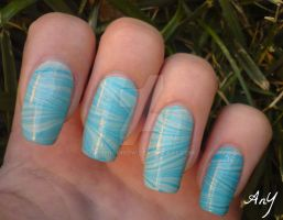 Blue Or Green? Water Marble by AnyRainbow