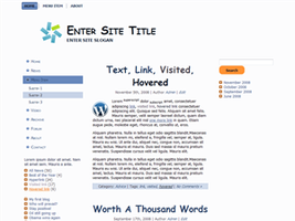 White WP Theme by wastematerials
