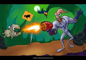 Earthworm Jim by vitalik-smile