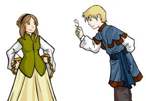 Hamlet and Ophelia by mellowbug28