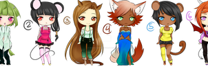 Unsold Adoptables girls(DRAW TO ADOPT) by Koike-sama