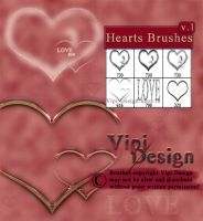 Hearts Brushes v.1 by elixa-geg