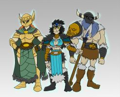 Barbarian Princess and Guardians by Eternal-Shadow-S