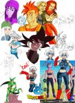Dragon Ball Sketches and Original Character design by xXx-iroCc-xXx