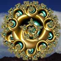 Mystic Golden Mandala by hypnogoddess