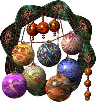 Mini Set of Baubles by WorlockMolly