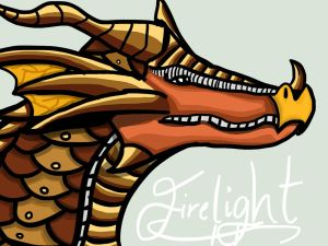 WINGS OF FIRE CONTEST!!! Submission: Firelight by SocialProblems101