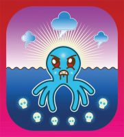 octo sea monster by alpha-seraphin