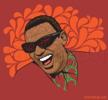 Portrait Series 1 Ray Charles by roberlan