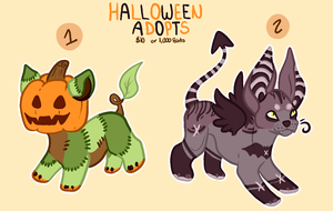   CLOSED   Halloween Adopts ~ Points or PayPal by BlushyAdopts