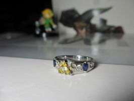 Zelda themed ring by ushiyasha