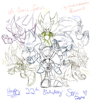 all Sonic forms sketch by shadowhatesomochao