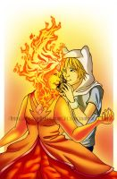 Finn X Flame Princess by Silverwingfox