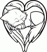 FREE Heart Shaped Wolf/Wolf Heart Lineart by Free-Line-Arts