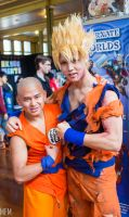 Krillin and Goku by MFM-Photography