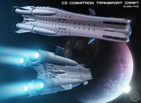 C3 Cosmitron Transport Craft  'Duron Five' by MikomDude