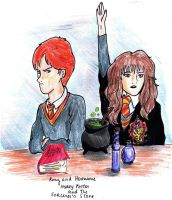 Ron and Hermione by JuliaBruno82