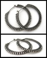 plain silver hoops by annie-jewelry