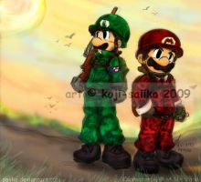 Mario: MK's Military Recruits by saiiko