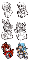Busts by CritterKat