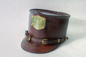 Leather Shako by CraftedSteampunk