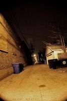 Alley behind your apartment by Cedardar