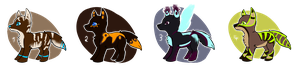 Wolf Adoptables - OPEN - 50 points by thesellers