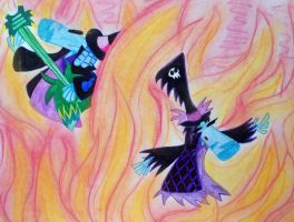 Song in  flame by The-Angel-D