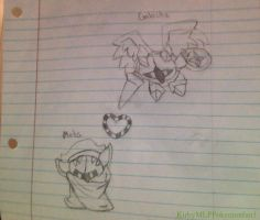 Meta Knight and Galacta Knight Drawing by KirbyMLPPokemonfan1