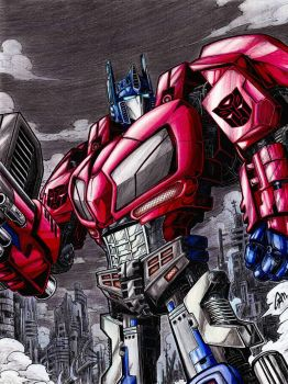 optimus prime/war for cybertron(colored version) by gamartz