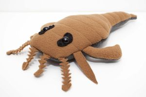 Eurypterid Plush in Olive by Paleogirl