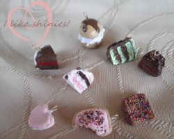 Cake charm pack by ilikeshiniesfakery