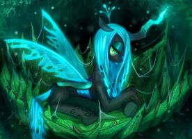 MLP-beautiful queen Chrysalis by pmo0908
