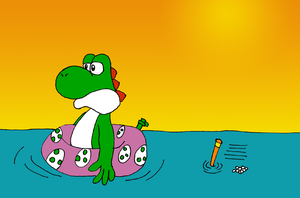 Yoshi in the sea by ZeFrenchM