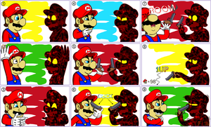 Mario Galaxy 2 Cosmic Clone by DFKJR
