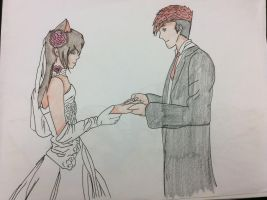 Ares and Louis wedding 1 by gryffindorseekerhp
