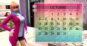 Wall Calendar October by RainboWxMikA