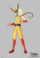 Saitama The Last Airbender by Fluoxyd