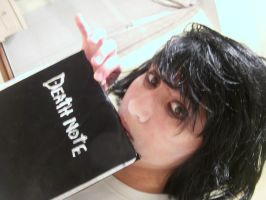 L Death Note on the phone by AnimeVoiceKiddo