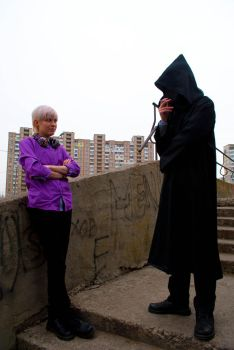 Cecil and Hooded figure by Lazyelfian
