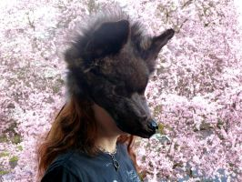 Wolf in Bloom by lupagreenwolf