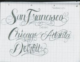 Tattoo Lettering  29 by 12KathyLees12