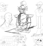 some undertale doodles by misterPlata